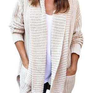 Chunky knit shawl collar cardigan L/XL